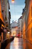 Fototapeta Uliczki - Narrow street in Old city. Budapest