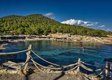 IBIZA, SPAIN, 13 March 2021, Mediterranean Seaside Landscape