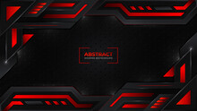 Abstract Modern Red Black Frame Layout Design Tech Innovation Concept Background