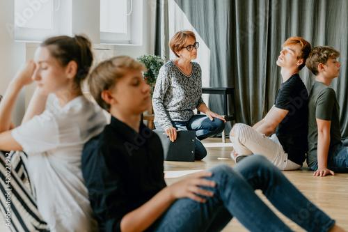 Fototapeta Teenagers on a session obraz na płótnie