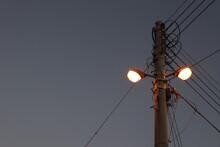 Dark Alleys And Streetlights, Sky And Street Lights