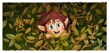 Leprechaun Hidden Among The Leaves