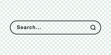 Search Bar Simple Vector Template, Browser Tab On A Transparent Background.