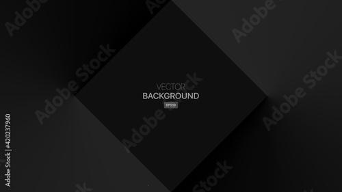 Fototapeta Dark Abstract Rectangle Geometric Background. Vector illustration obraz