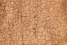 Top View Of Dry Cracked Scorched Earth