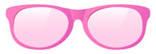 Vector Pink Sunglasses On White Background