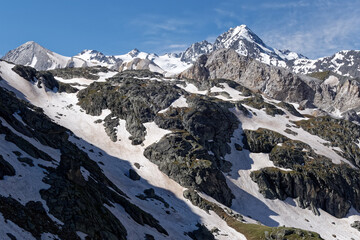 Moutains scenery of Vanoise National Park (French Alps)