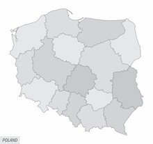 Poland Grayscale Map