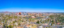 Downtown Tempe, Arizona, USA Drone Skyline Aerial