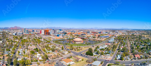 Photo Downtown Tempe, Arizona, USA Drone Skyline Aerial