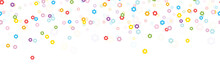 Seamless Confetti Spring Flowers Background