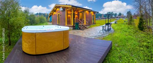 Fotografiet Outdoor hydromassage pool