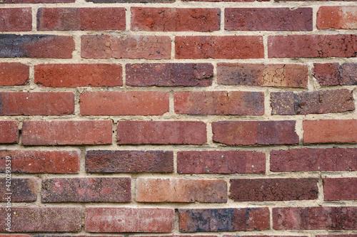Une matière de mur en brique rouge Fototapeta