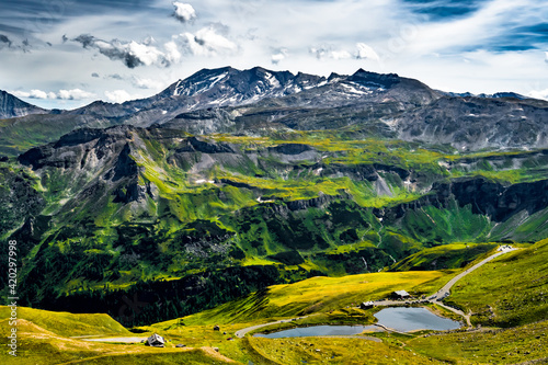 Fototapeta High Alpine Landscape With Mountains In National Park Hohe Tauern In Austria