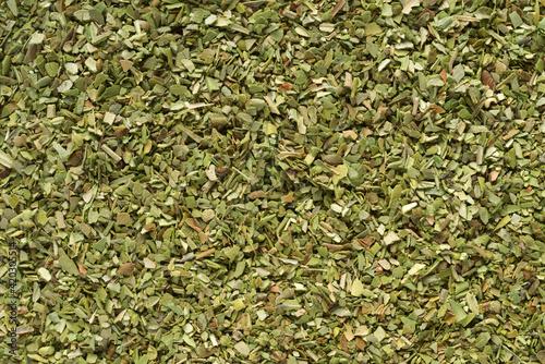 Fotografie, Obraz Pile of dried green oregano texture or background.
