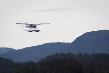 Sea Planes Landing At Ketchikan Alaska