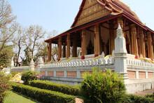 Buddhist Temple (Wat Ho Phra Keo) In Vientiane (laos)
