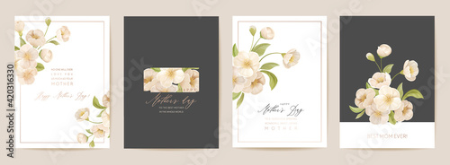 Vászonkép Mother day floral postcard