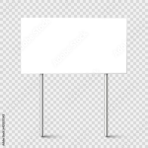 Blank board with place for text, protest sign isolated on transparent background Fototapet