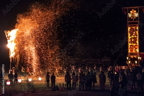 Fototapeta 石川県・能登町 柳田大祭の風景