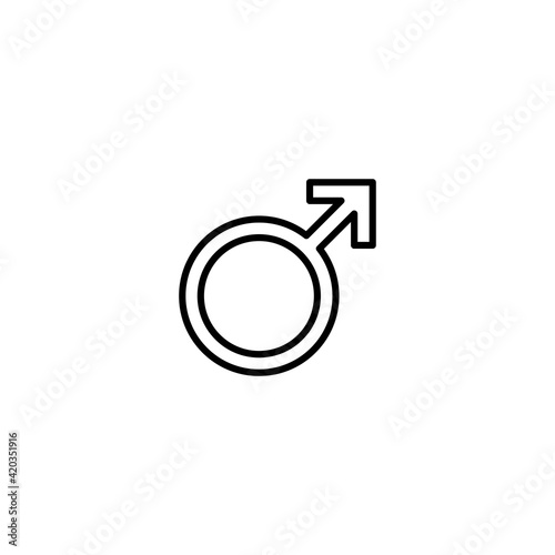 Fototapeta Male icon vector for web, computer and mobile app obraz na płótnie