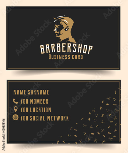 barbershop business card template