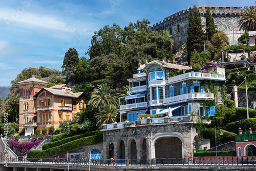 The embankment and the old fortress of Sestri Levante Italy Wallpaper Mural