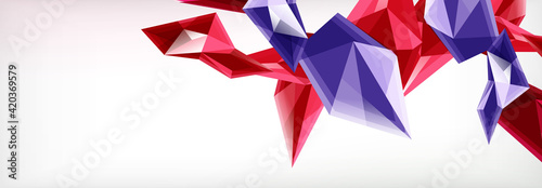 Obraz Vector 3d triangles and pyramids abstract background for business or technology presentations, internet posters or web brochure covers - fototapety do salonu