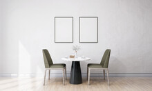 Stylish Interior Design Of Dining Room With Mock Up Poster Frame
