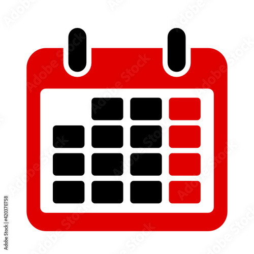 Obraz kalendarz ikona - fototapety do salonu