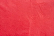 Background And Texture Of Red Mulberry Paper With Wrinkled.