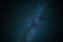 The Night Sky Is Covered With Stars. Beautiful Space Background.