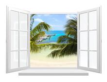 View Of Ocean Through Window