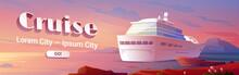Sea Liner Cruise Cartoon Landing Page, Book Ticket