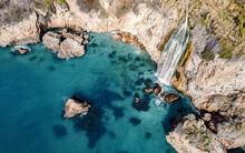 Cascada De Mano En Nerja, Málaga.