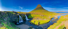 Kirkjufellfoss Scenic Spot With Iconic Waterfall And Peak In Iceland