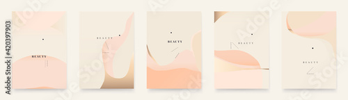 Contemporary abstract universal background templates. Minimalist aesthetic.