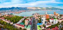 Novorossiysk City Aerial Panoramic View