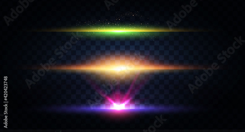 Photo Abstract light effect and lens flare collection