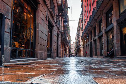 Barcelona. Gothic quarter of Barcelona. Catalonia. Spain, 2021 Fotobehang