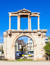Hadrian's Gate In Athens