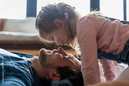 Obraz na płótnie happy family and father's day