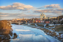 Assumption Cathedral And The Dnieper River In Smolensk