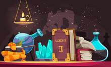 Alchemy Objects Illustration