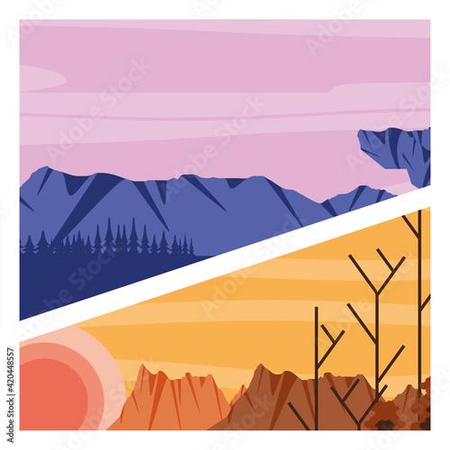 Canvastavla landscape arid night