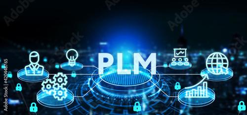 Fotografie, Obraz PLM Product lifecycle management system technology concept