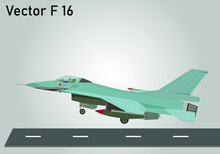 Vector Jet F 16 Fighting Falcon With Shark Sticker Or Ornament