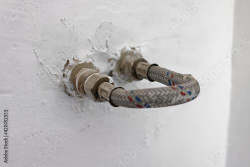 Ścienne przyłącza wody - fototapety na wymiar