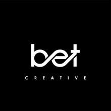 BET Letter Initial Logo Design Template Vector Illustration