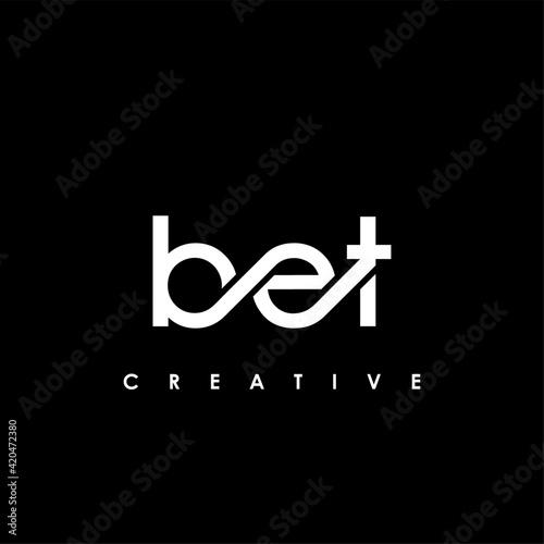 BET Letter Initial Logo Design Template Vector Illustration Fotobehang